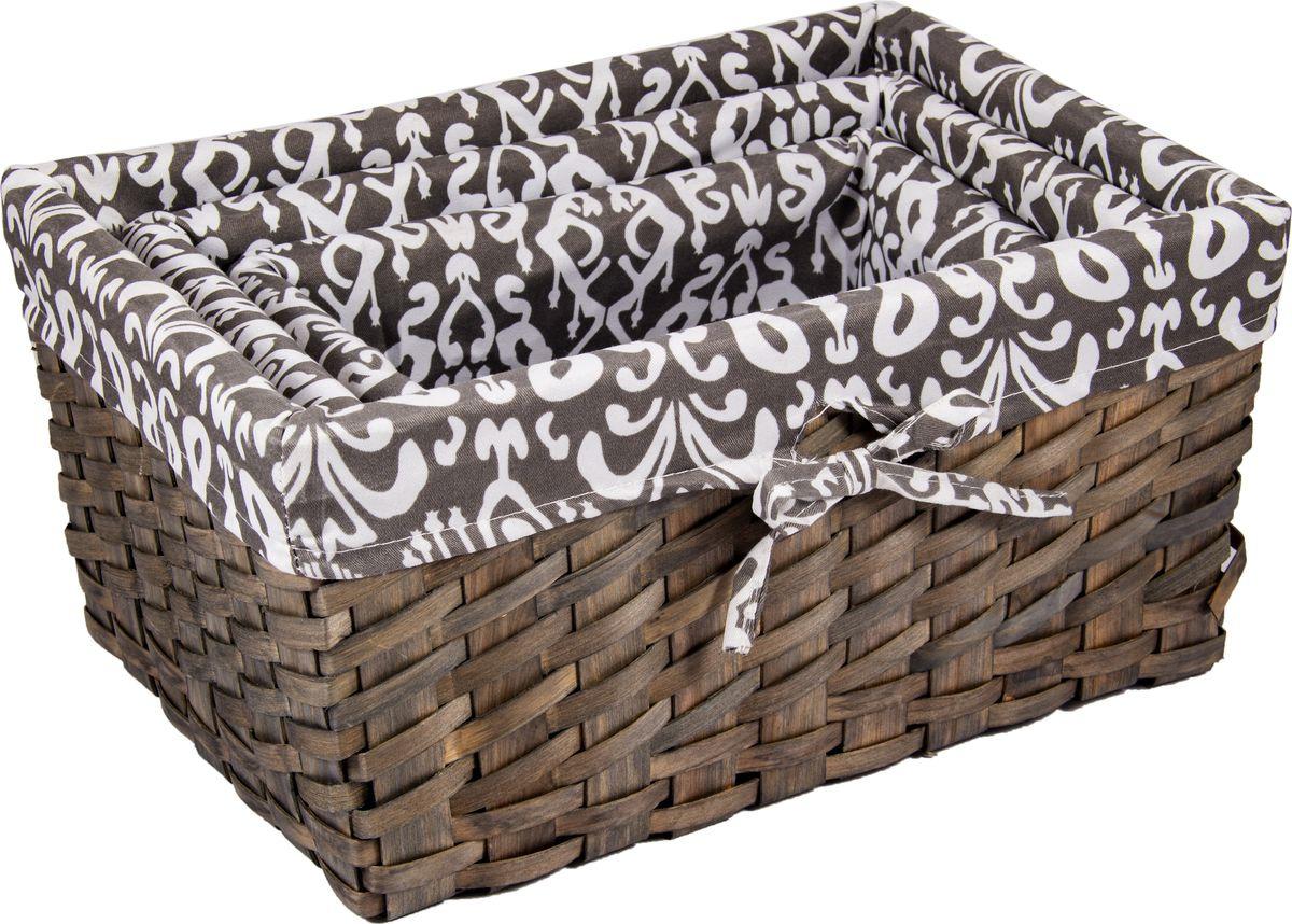 Корзина универсальная Русские подарки, плетеная, 80351, коричневый, 37 х 26 х 17 см набор ёлочных игрушек русские подарки мишка 5 х 3 см 4 шт