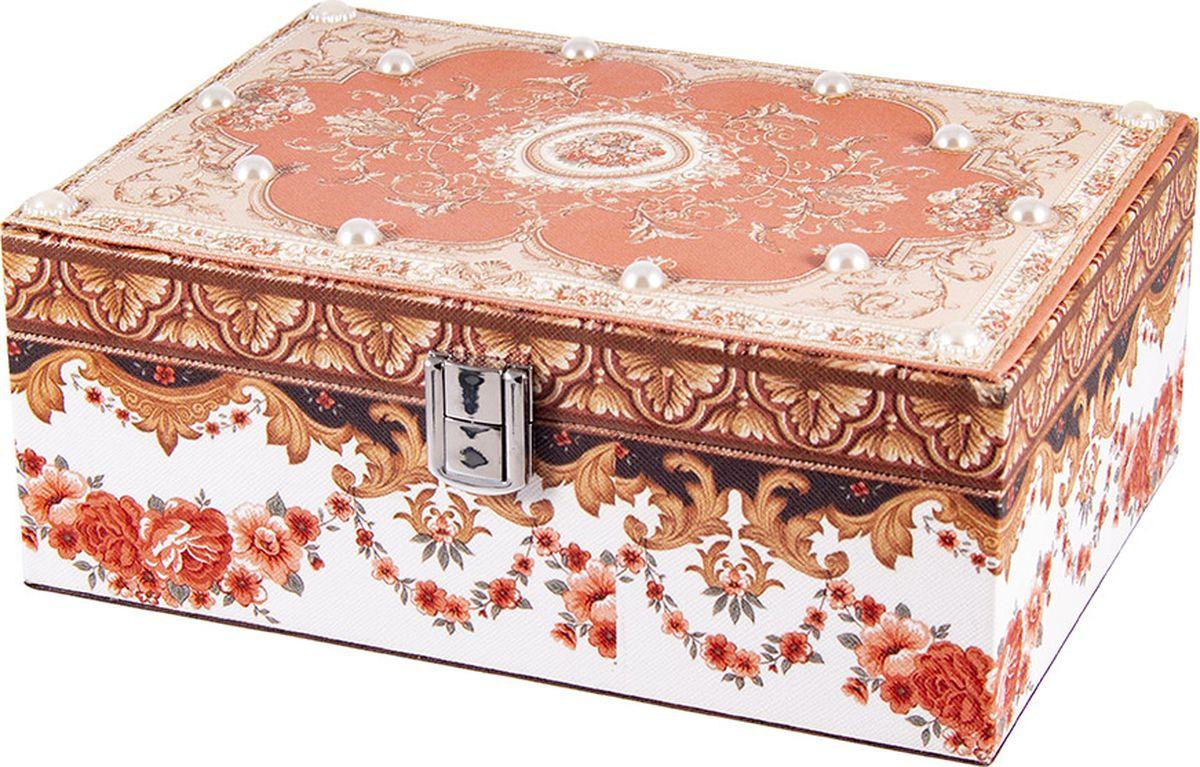 Шкатулка для хранения Русские подарки, 84334, мультиколор, 23 х 17 х 10 см