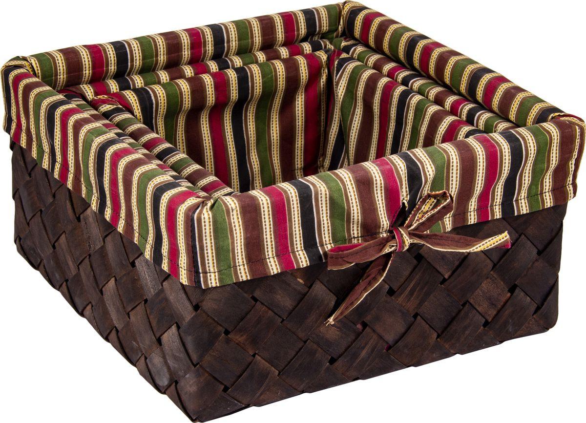 Корзина универсальная Русские подарки, плетеная, 80349, коричневый, 30 х 30 х 15 см набор ёлочных игрушек русские подарки мишка 5 х 3 см 4 шт
