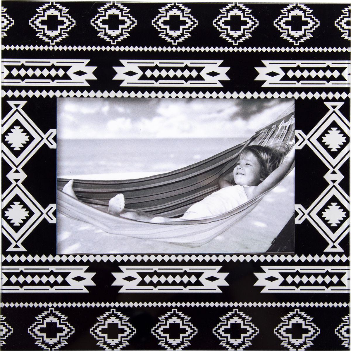 Фоторамка Русские подарки, 78955, черный, с орнаментом 22 х 22 х 1 см опустошитель 22 хронос