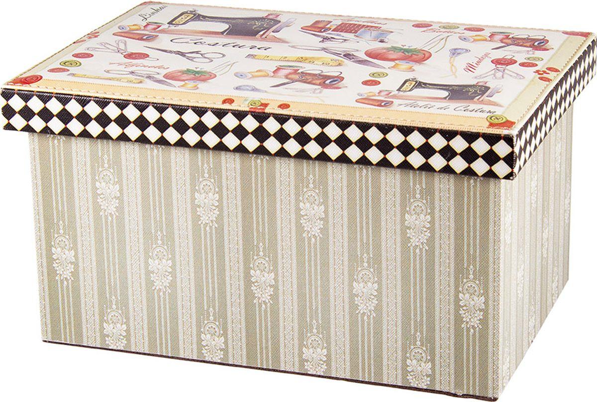 Шкатулка для ювелирных украшений Русские подарки, 84328, мультиколор, 30 х 20 х 16 см