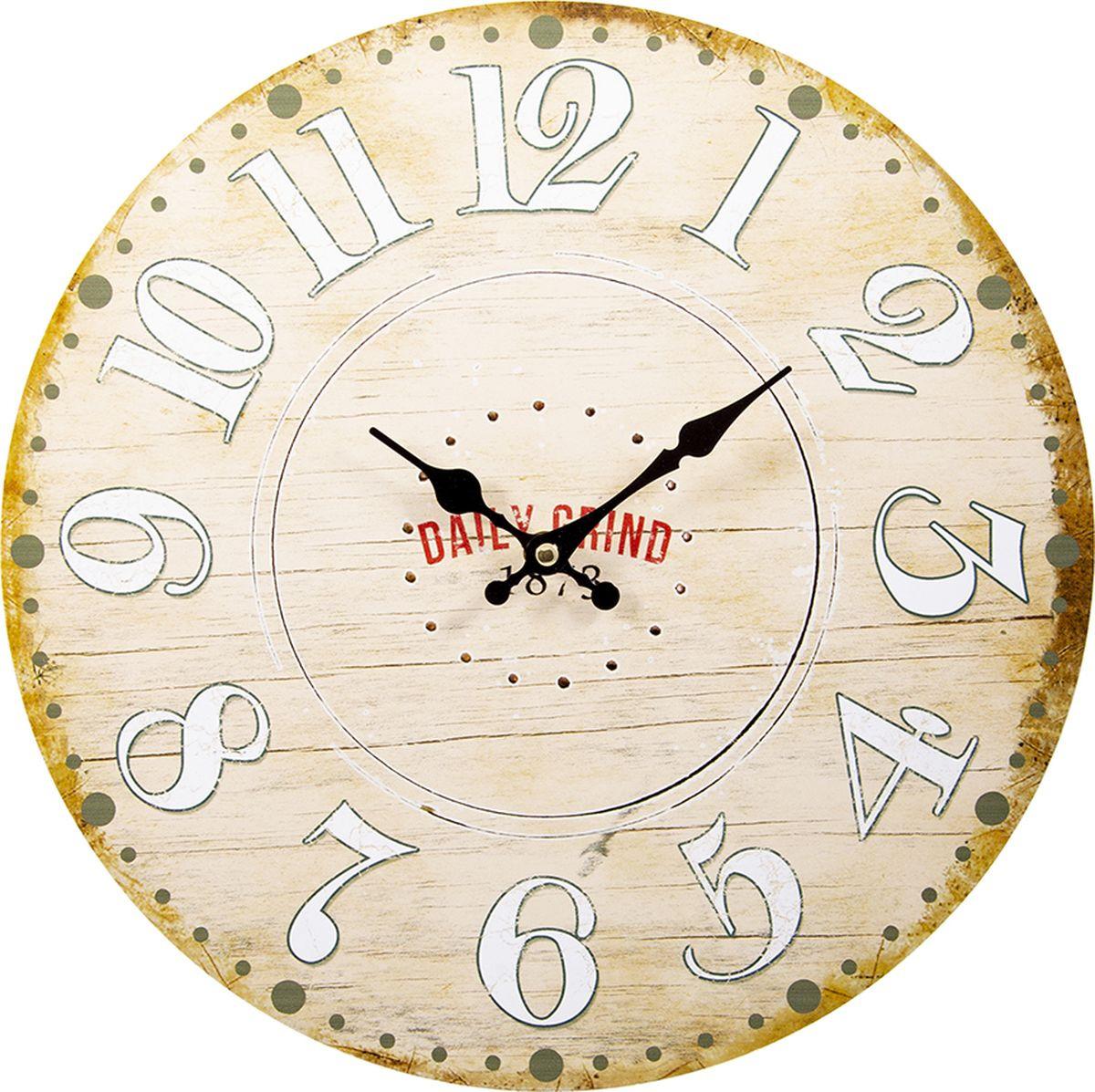 Настенные часы Русские подарки, 138644, мультиколор, 34 х 34 см стоимость