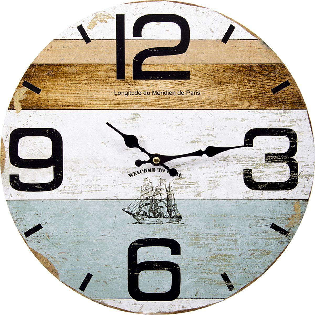 Настенные часы Русские подарки, 138643, мультиколор, 34 х 34 см все цены