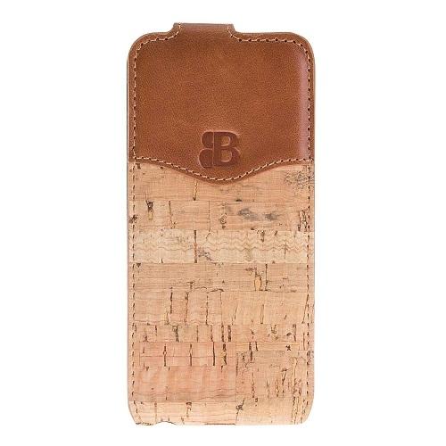 Чехол для сотового телефона Burkley для iPhone 5/SE FlipCase, коричневый стоимость