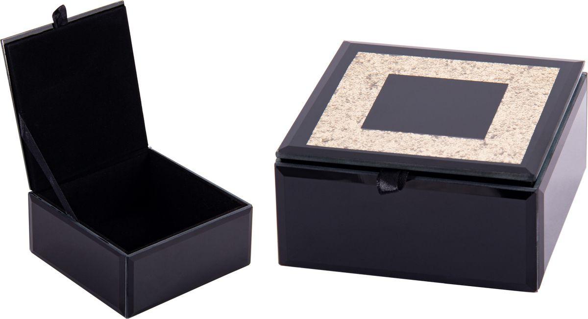 Шкатулка для ювелирных украшений Русские подарки, 79217, черный, 12 х 12 х 6 см шкатулка фолиант win max букет 17 х 12 х 6 см