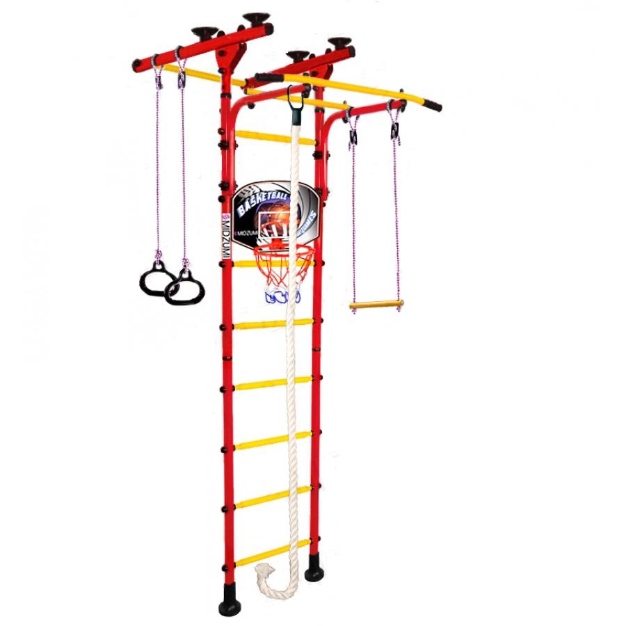 Спортивный комплекс Midzumi Детский Hoshi Ton Basketball Shield красный красный детский спортивный комплекс absolute champion самолет салатово красный