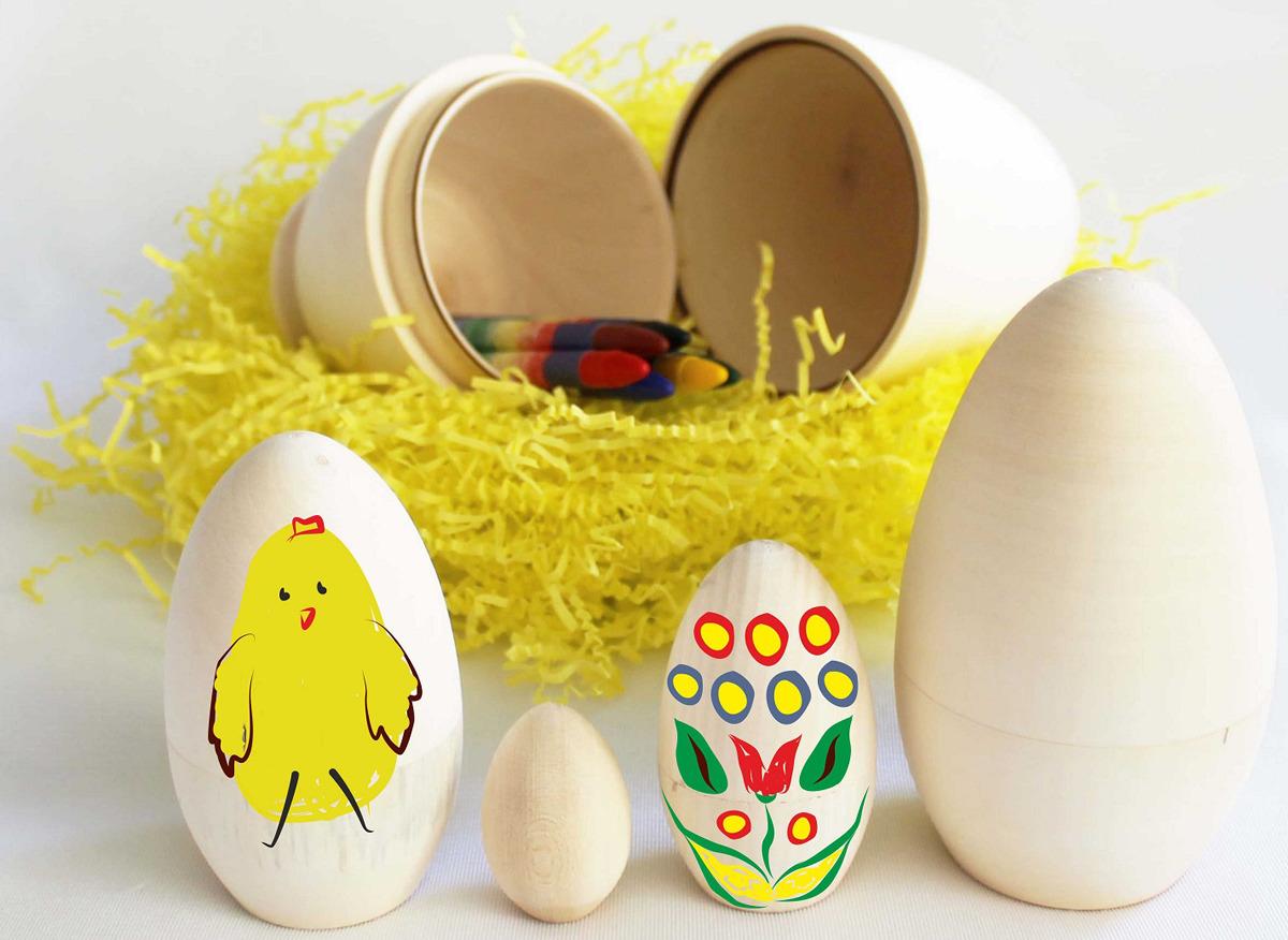 """Сортер Стеша """"Яйцо-матрёшка из 5 яиц"""" бежевый"""