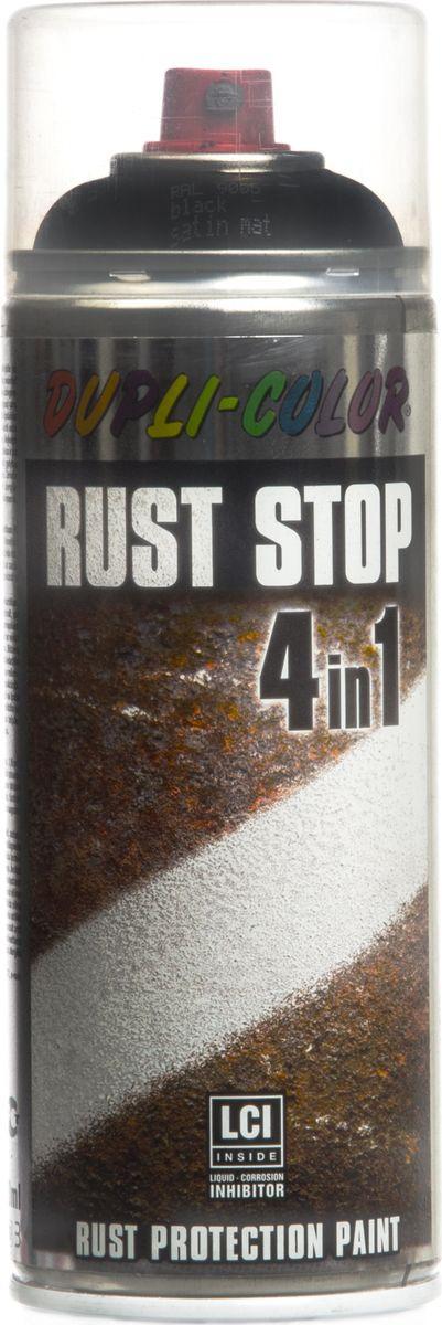 цена на Эмаль по ржавчине Dupli Color Rust Stop 4 в 1, RAL 9005, черный, 0,4 л