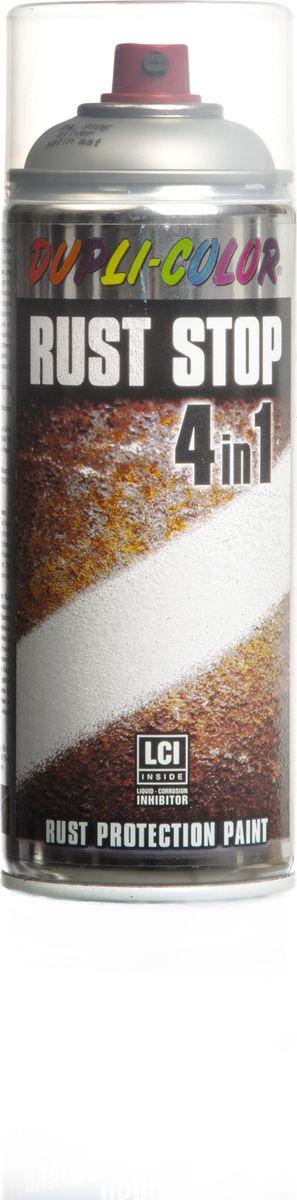 цена на Эмаль по ржавчине Dupli Color Rust Stop 4 в 1, RAL 9006, серебристый, 0,4 л