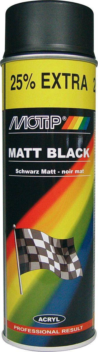 цена на Эмаль универсальная Motip, 04006IG, акриловая, матовая, черный, 0,5 л