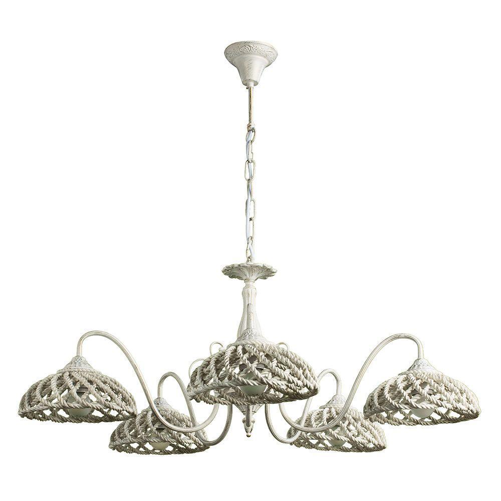 купить Подвесной светильник Arte Lamp A5358LM-5WG, белый по цене 15990 рублей