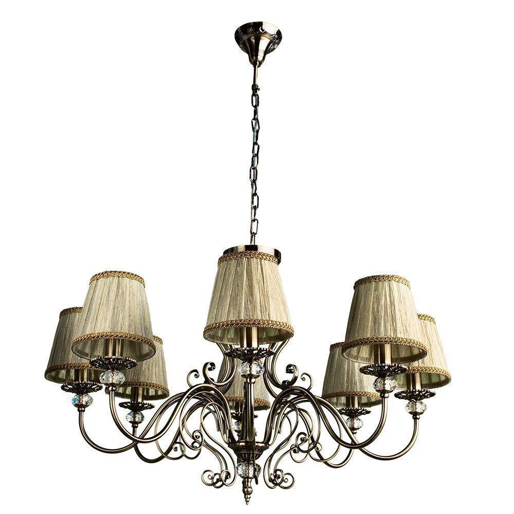 Подвесной светильник Arte Lamp A2083LM-8AB, бежевый цены