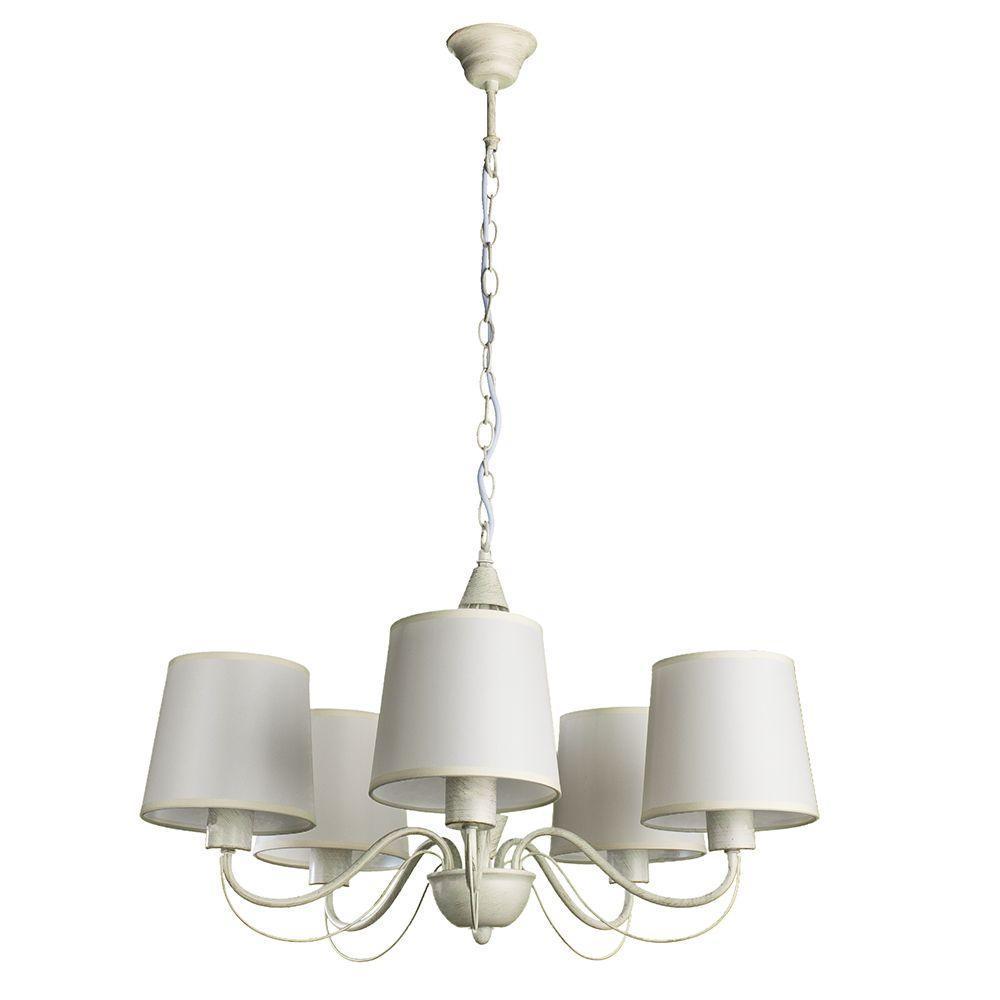 купить Подвесной светильник Arte Lamp A9310LM-5WG, белый по цене 13800 рублей