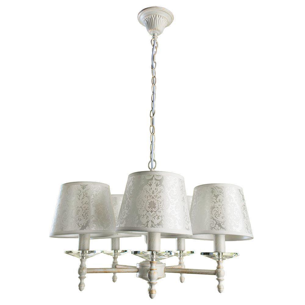 купить Подвесной светильник Arte Lamp A9566LM-5WG, белый по цене 16950 рублей