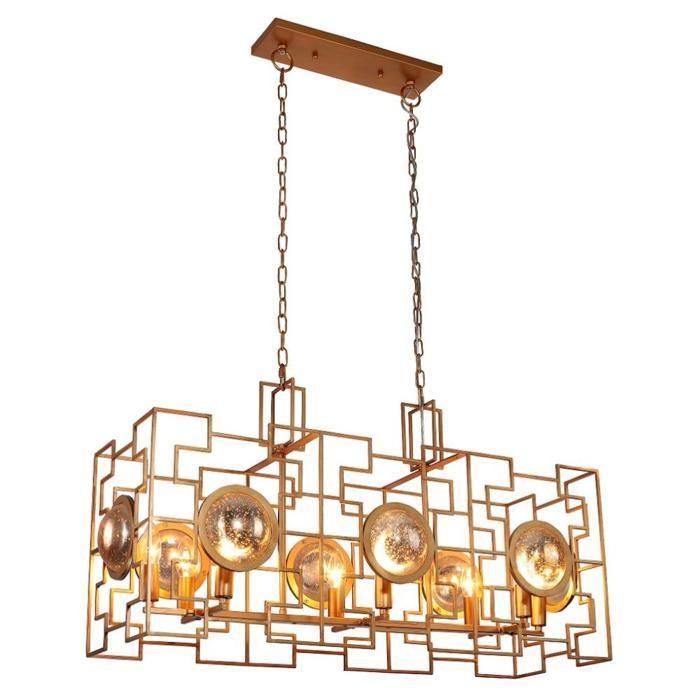 купить Подвесной светильник Crystal Lux CUENTO SP8 L900 GOLD, E14, 60 Вт по цене 51300 рублей