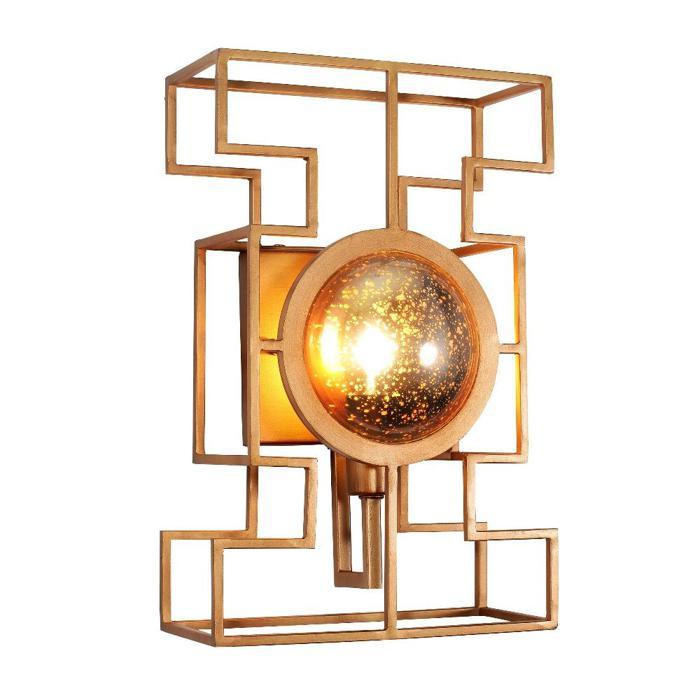 купить Бра Crystal Lux CUENTO AP1 GOLD, E14, 60 Вт по цене 7600 рублей