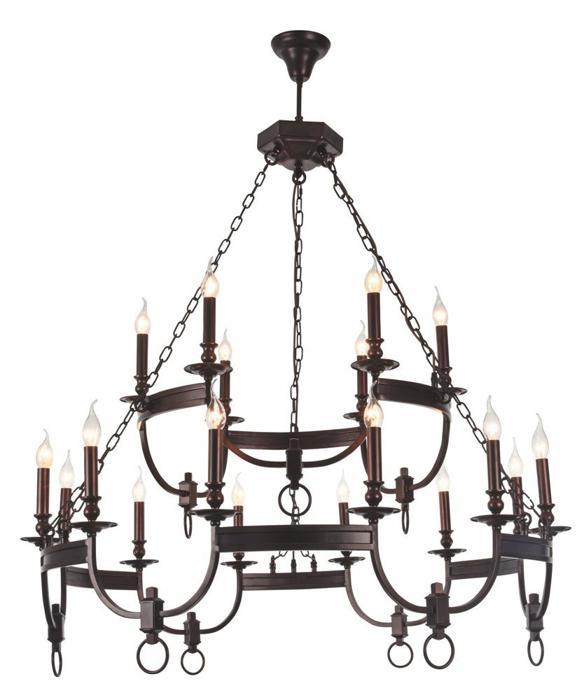 Подвесной светильник Crystal Lux SUERTE BROWN SP12+6, коричневый