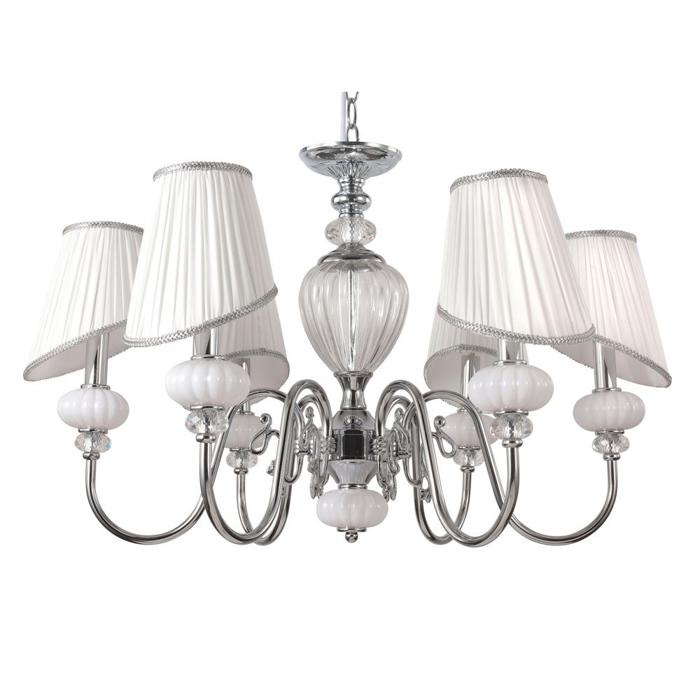 Подвесной светильник Crystal Lux ALMA WHITE SP-PL6, E14, 60 Вт crystal lux flamingo sp pl5 white