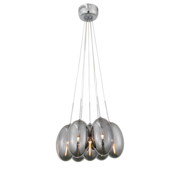 Подвесной светильник St Luce SL433.103.07, серый металликSL433.103.07Подвесной светильник St Luce SL433.103.07 серии Esile в современном стиле подчеркнет индивидуальность вашего интерьера. Размеры (Диаметр х Высота) 500х450 мм.