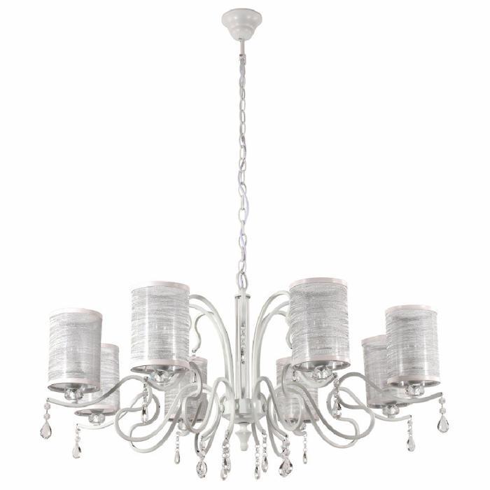 Подвесной светильник Crystal Lux ELISA WHITE SP8, белый подвесная люстра crystal lux elisa sp8