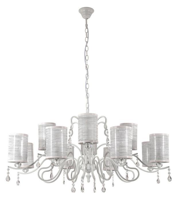 Подвесной светильник Crystal Lux ELISA WHITE SP12, E14, 60 Вт подвесная люстра crystal lux medea sp12