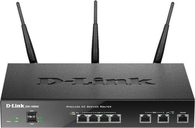 Роутер беспроводной D-Link, DSR-1000AC межсетевой экран d link dsr 150n