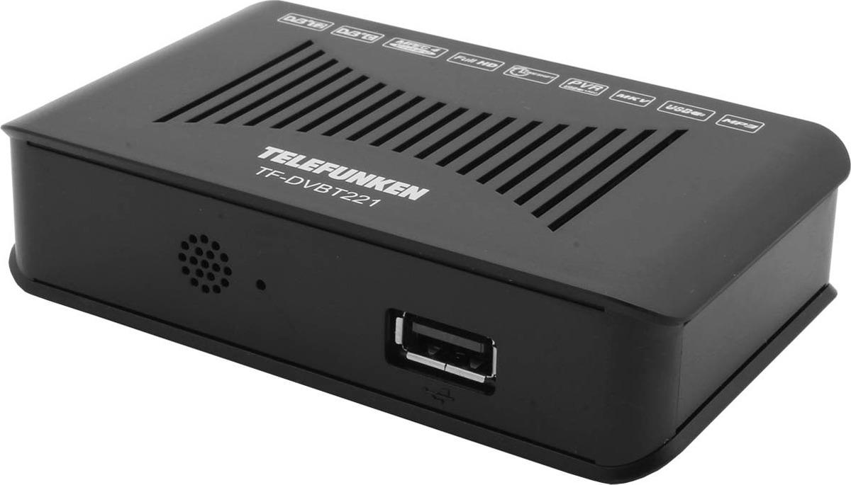 ТВ ресивер Telefunken TF-DVBT221, черный