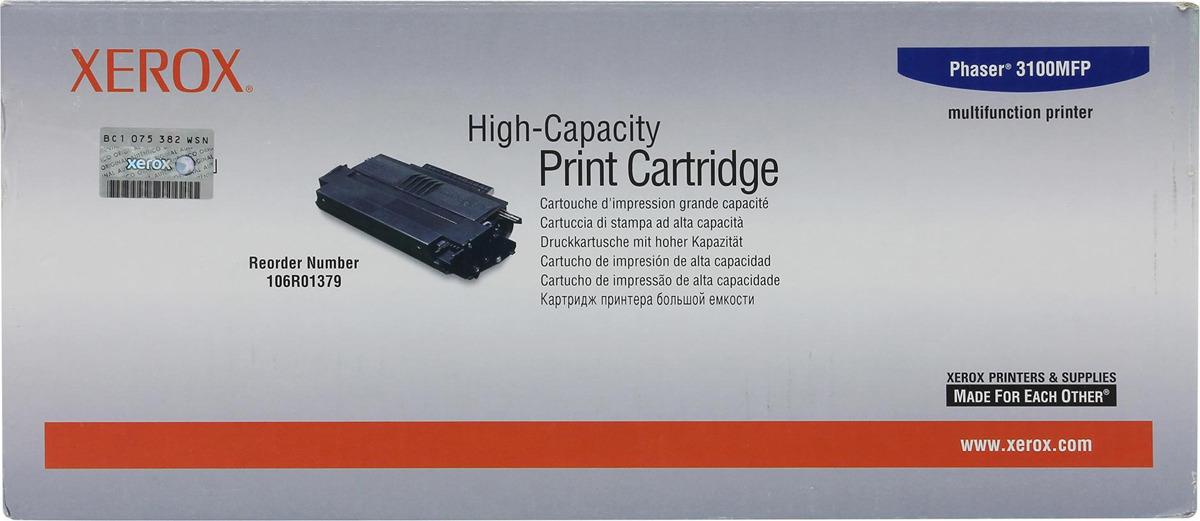Картридж Xerox 106R01379, черный, для лазерного принтера, оригинал