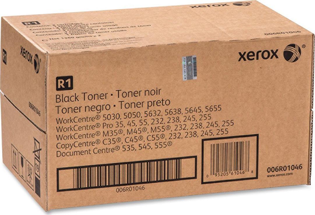 Картридж Xerox 006R01046, черный, для лазерного принтера, оригинал картридж xerox 006r01046