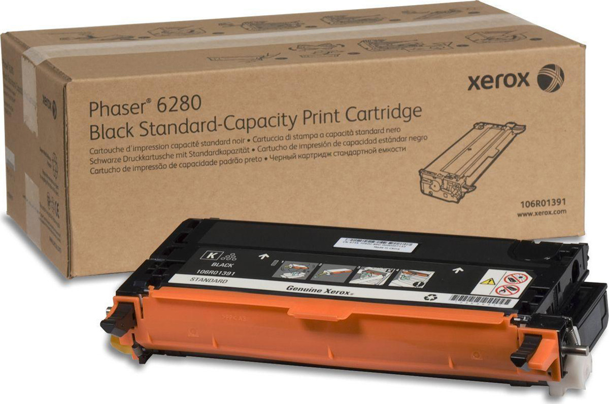 Картридж Xerox 106R01403, черный, для лазерного принтера, оригинал