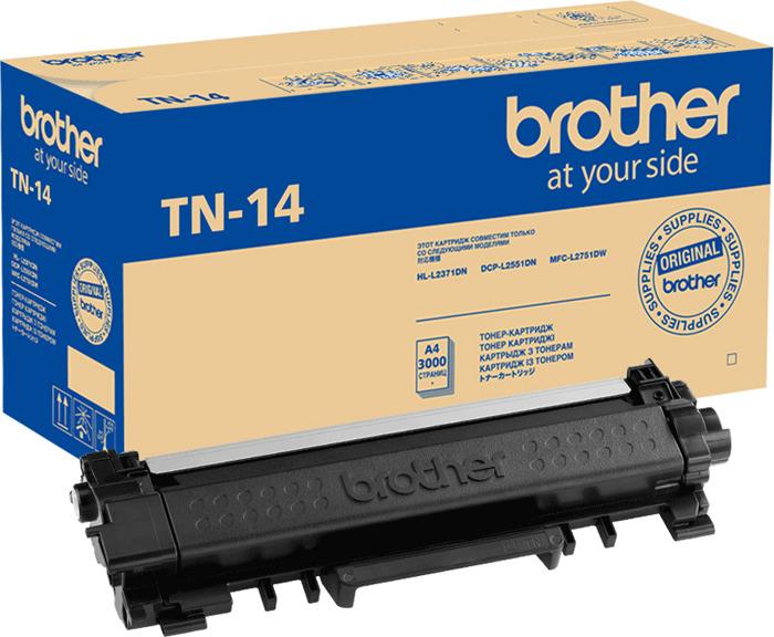 Картридж Brother TN-14, черный, для лазерного принтера