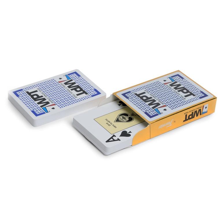 Игральные карты Fournier для покера Fournier WPT Gold 100% пластик, Испания синие игральные карты fournier fournier 2818 100