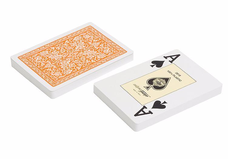 Игральные карты Fournier Fournier 2818 100% пластик, оранжевая рубашка игральные карты fournier fournier 2818 100