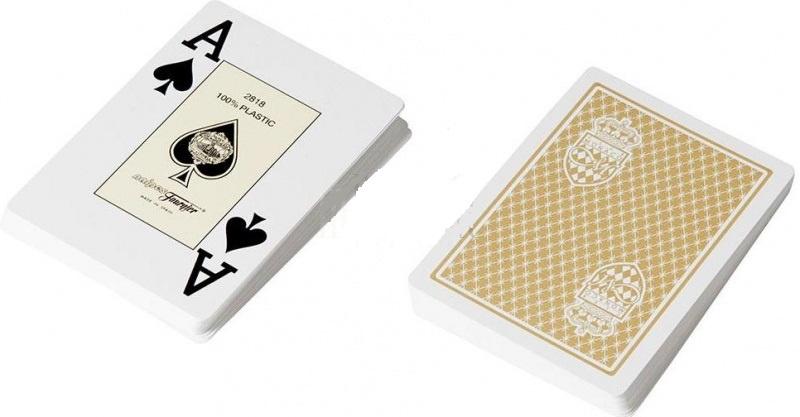 Игральные карты Fournier для покера Fouriner Club Monaco 100% пластик, Испания, хаки игральные карты fournier fournier 2818 100