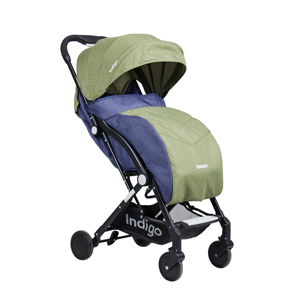 Коляска прогулочная Indigo Smart зеленый коляска прогулочная adamex neonex серый зеленый 36c gl000523946