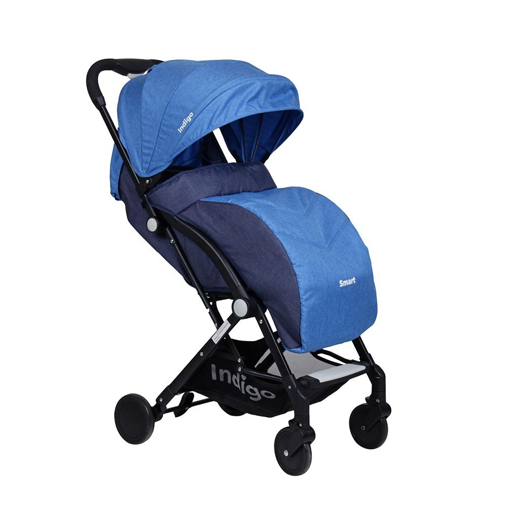цены на Коляска прогулочная Indigo Smart синий  в интернет-магазинах