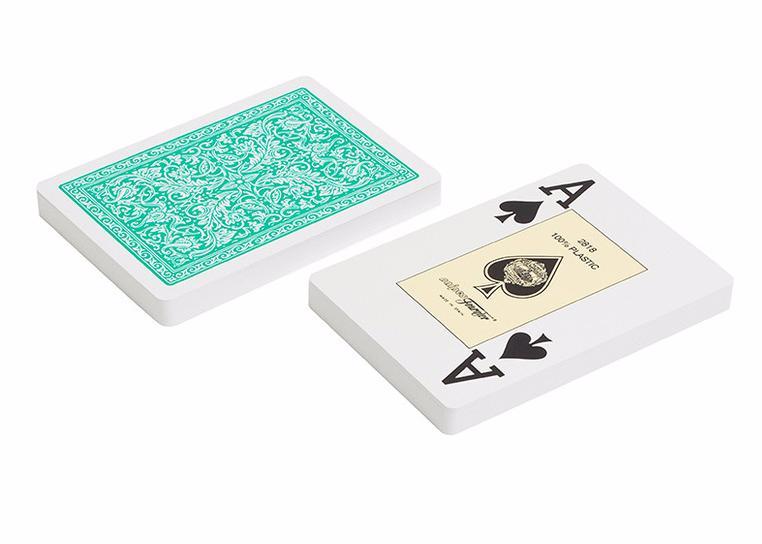 Игральные карты Fournier Fournier 2818 100% пластик, зеленая рубашка игральные карты fournier fournier 2818 100