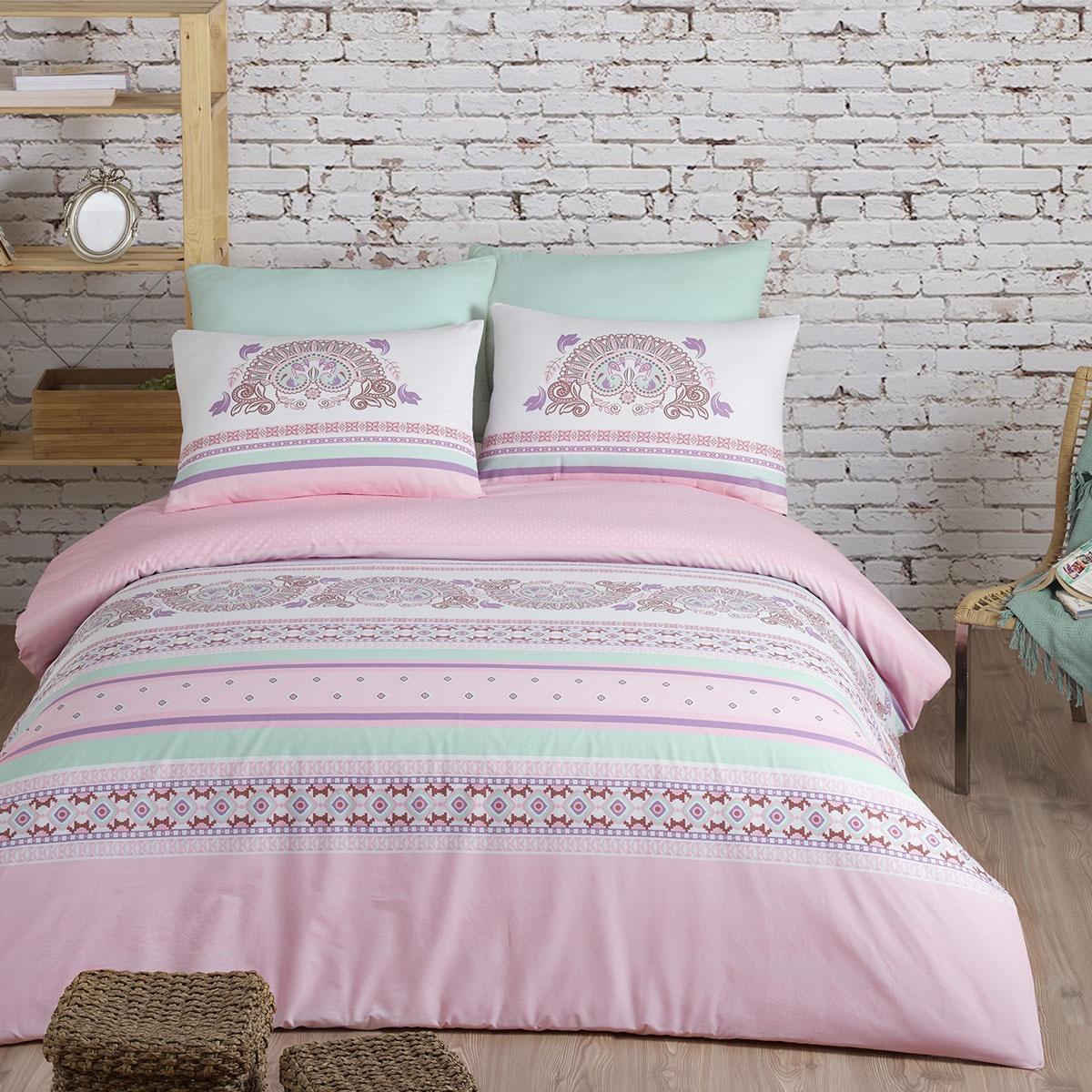 цена на Комплект постельного белья Arya home collection Electra, розовый
