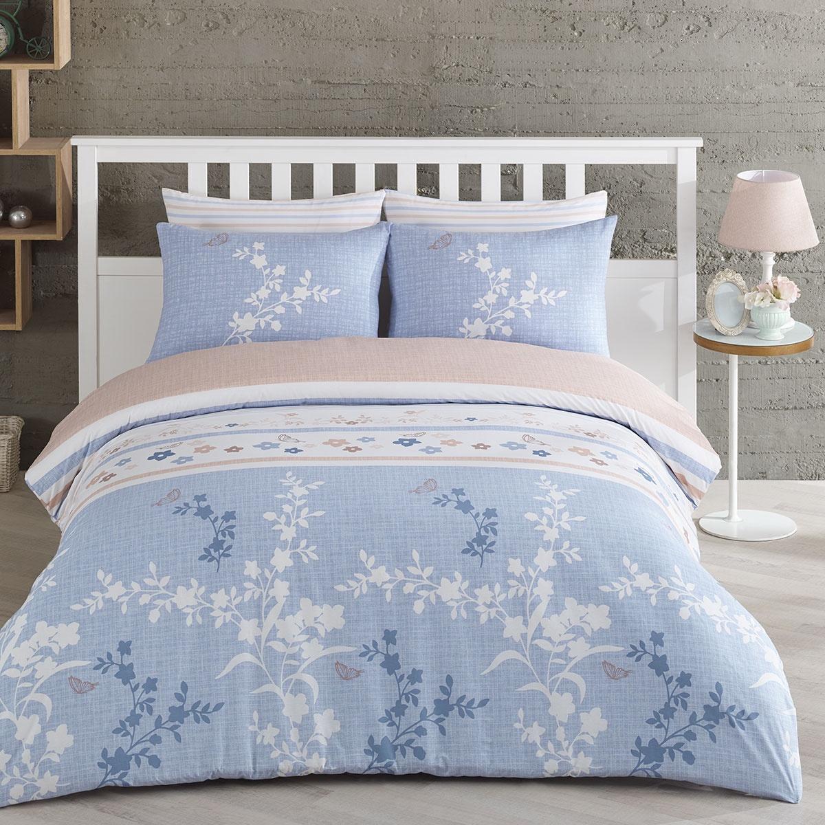 цена на Комплект постельного белья Arya home collection Simay, голубой