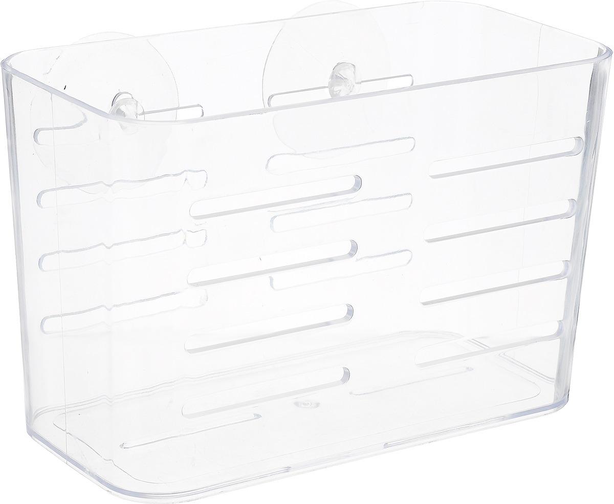 Подставка для губки Verran, 240-21, прозрачный240-21Пластиковая подставка для мочалок настенная. Крепление на присосках.