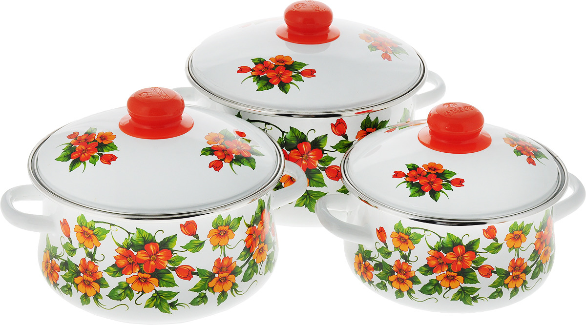 Набор посуды Эмаль Забава, 7-309/6М авент набор посуды д малыша 6м