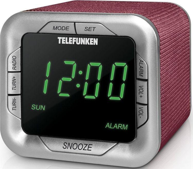 Радиоприемник настольный Telefunken TF-1505, бордовый Telefunken