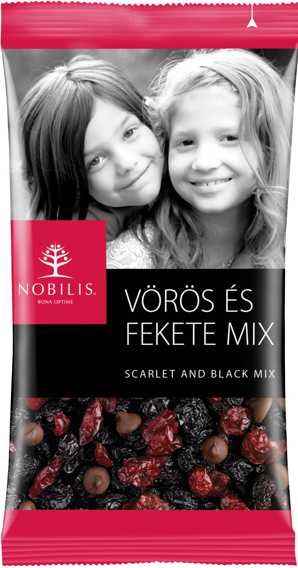 Красно-черный микс (сушеные ягоды и горький шоколад), NOBILIS ZRT, 100г