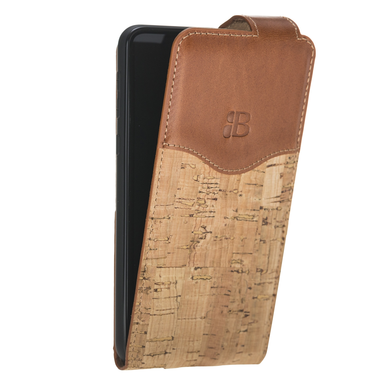 Чехол для сотового телефона Burkley для Samsung S10 FlipCase, коричневый