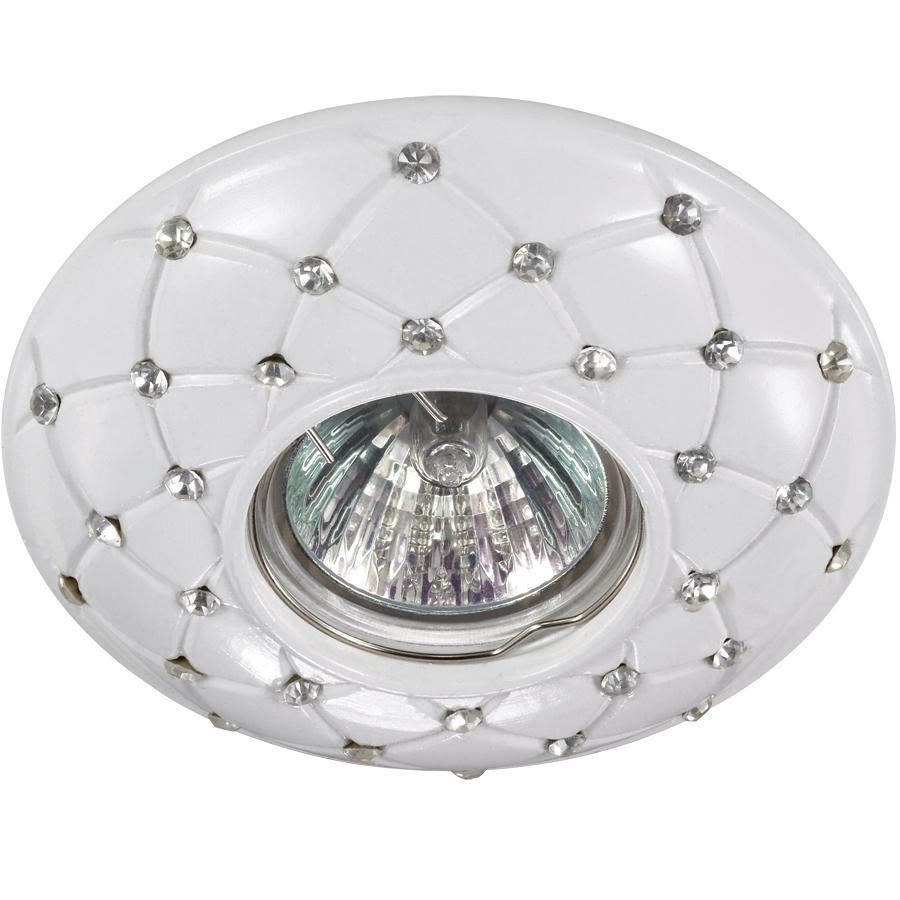 Встраиваемый светильник Novotech 370129, белый встраиваемый светильник novotech pattern 090 370132