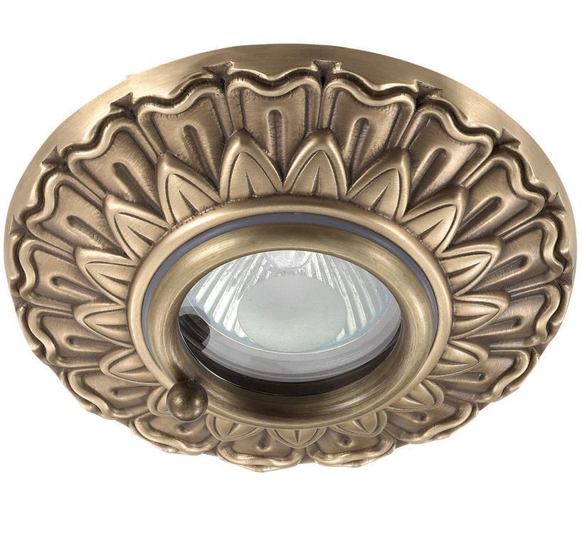 <b>Встраиваемый светильник Novotech</b> 370053, бронза — купить в ...