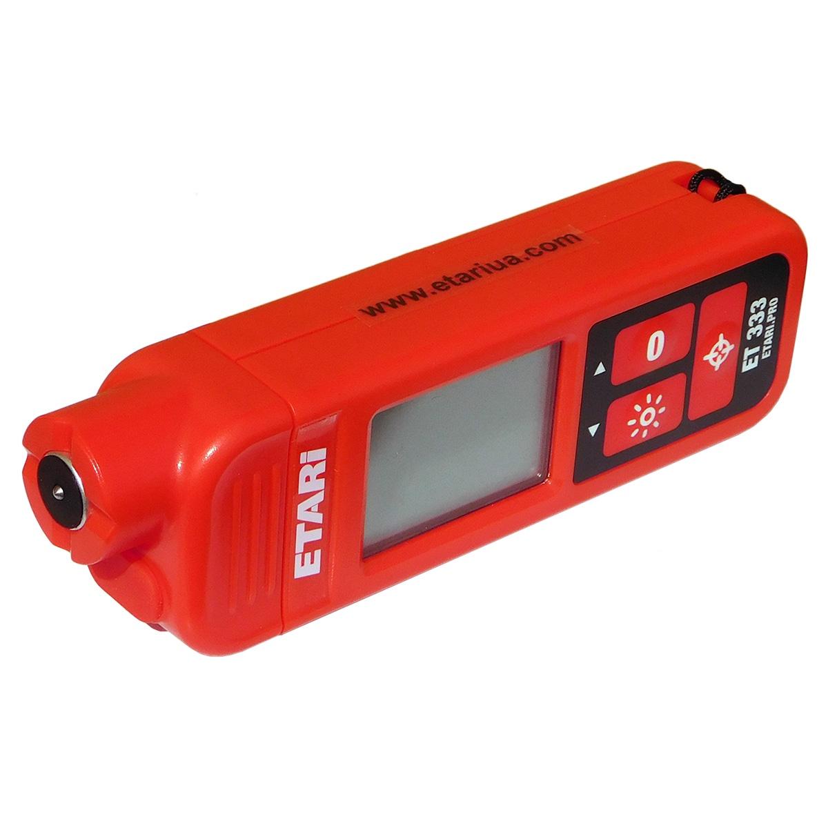 Толщиномер Etari ET-333 толщиномер лакокрасочного покрытия etari ет 600 батарейки в подарок