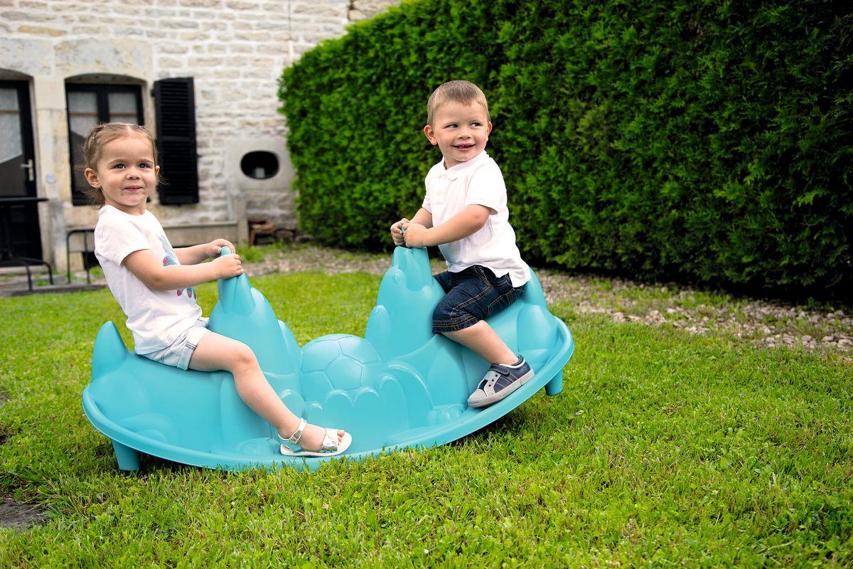 Качели детские уличные Smoby Outdoor Собачки, 830202, голубой, 115 х 49,5 х 50,7 см smoby прорезыватель smoby сotoons смоби котунс