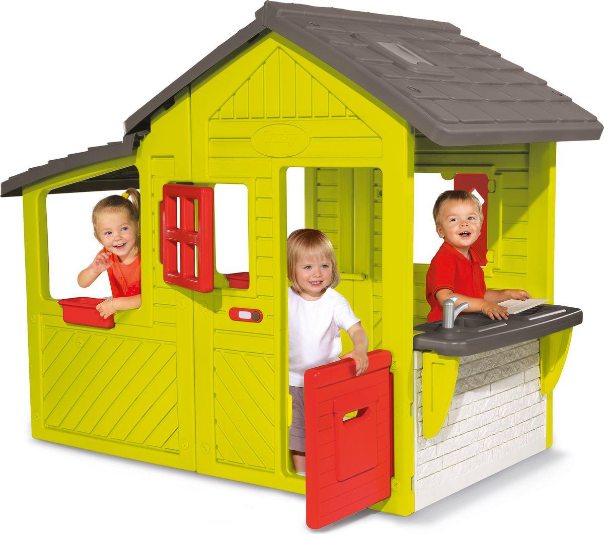 Игровой домик Smoby Outdoor Домик садовода со звонком, 310300, мультиколор, 185 х 109 х 148 см цена