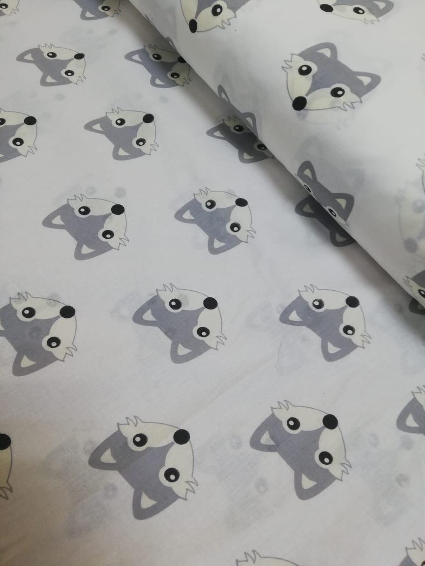 Ткань Vebertex серые лисята ткань vebertex коалы книголюбы